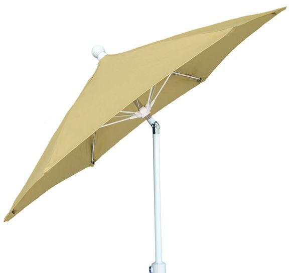 Picture of FiberBuilt 9 Ft Patio Umbrellas with Crank Lift and Tilt - White Finish