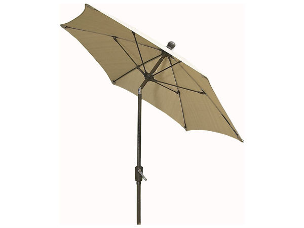 Picture of FiberBuilt 9 Ft Patio Umbrellas with Crank Lift and Tilt - Champagne Bronze Finish