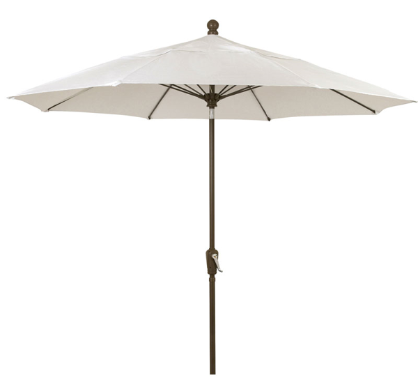 Picture of FiberBuilt 9 Ft Patio Umbrellas with Pusp Up Lift - Champagne Bronze Finish