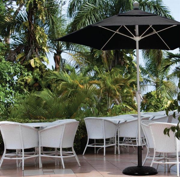 Picture of FiberBuilt 7.5 Ft Terrace Umbrellas with Crank Lift - White Finish