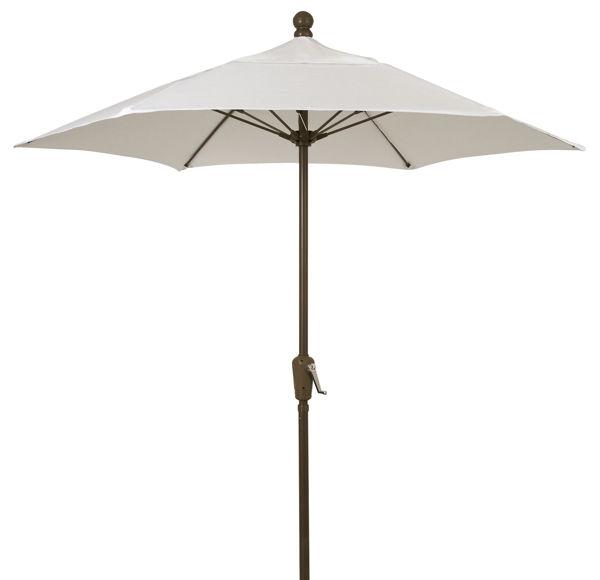 Picture of FiberBuilt 7.5 Ft Terrace Umbrellas with Crank Lift - Champagne Bronze Finish