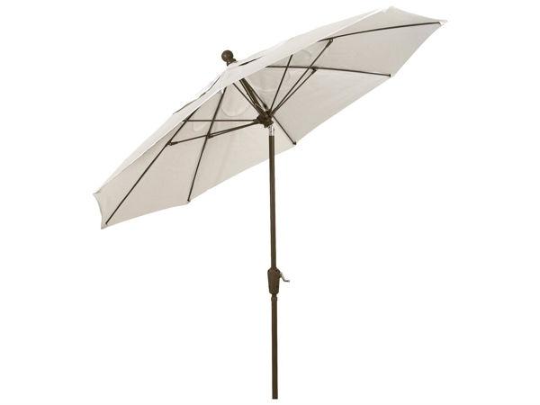 Picture of FiberBuilt 7.5 Ft Terrace Umbrellas with Pusp Up Lift - Champagne Bronze Finish