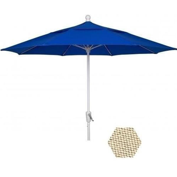 Picture of FiberBuilt 9 Ft Terrace Umbrellas with Crank Lift - White Finish