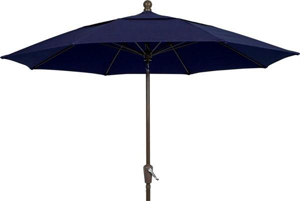 Picture of FiberBuilt 9 Ft Terrace Umbrellas with Crank Lift - Champagne Bronze Finish