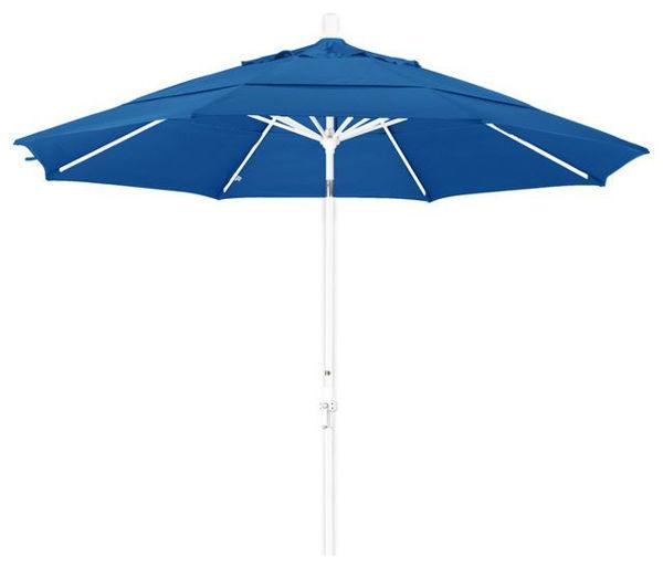 Picture of FiberBuilt 9 Ft Terrace Umbrellas with Crank Lift and Tilt - White Finish