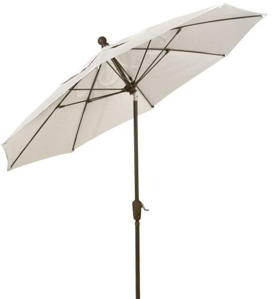 Picture of FiberBuilt 9 Ft Terrace Umbrellas with Crank Lift and Tilt - Champagne Bronze Finish