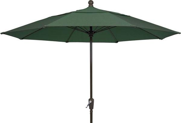 Picture of FiberBuilt 9 Ft Terrace Umbrellas with Pusp Up Lift - Champagne Bronze Finish