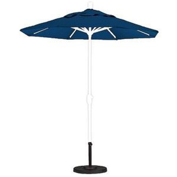 Picture of FiberBuilt 7.5 Ft Market Umbrellas Push Up Lift - White Finish