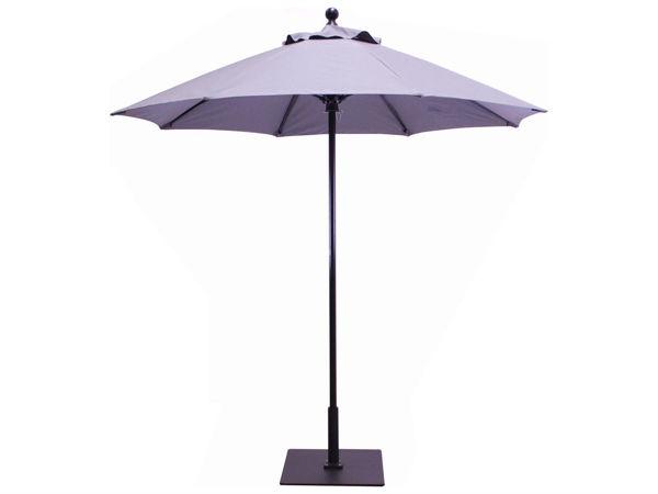 Picture of FiberBuilt 7.5 Ft Market Umbrellas Push Up Lift - Black Finish