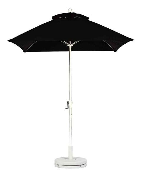 Picture of FiberBuilt 7.5 Ft Market Umbrellas Crank Lift - White Finish