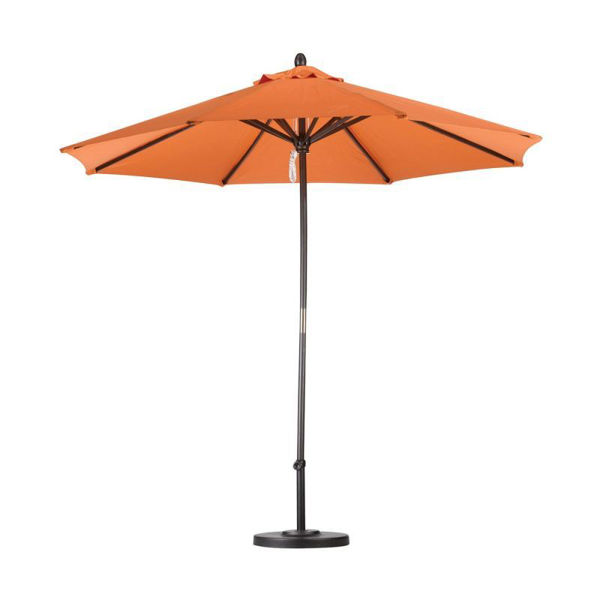Picture of FiberBuilt 7.5 Ft Market Umbrellas Crank Lift - Champagne Bronze Finish