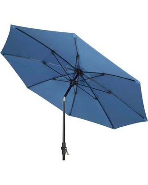 Picture of FiberBuilt 9 Ft Market Umbrellas Crank Lift And Collar Tilt - Black Finish