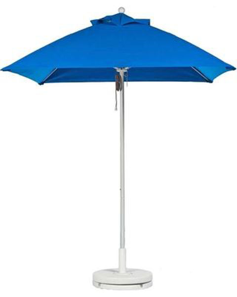 Picture of FiberBuilt 6 Ft Market Umbrellas Pulley and Pin Lift - White Finish