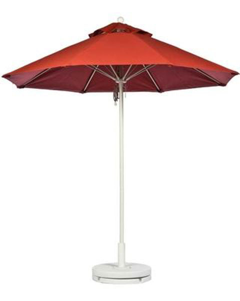 Picture of FiberBuilt 7.5 Ft Market Umbrellas Pulley and Pin Lift - White Finish