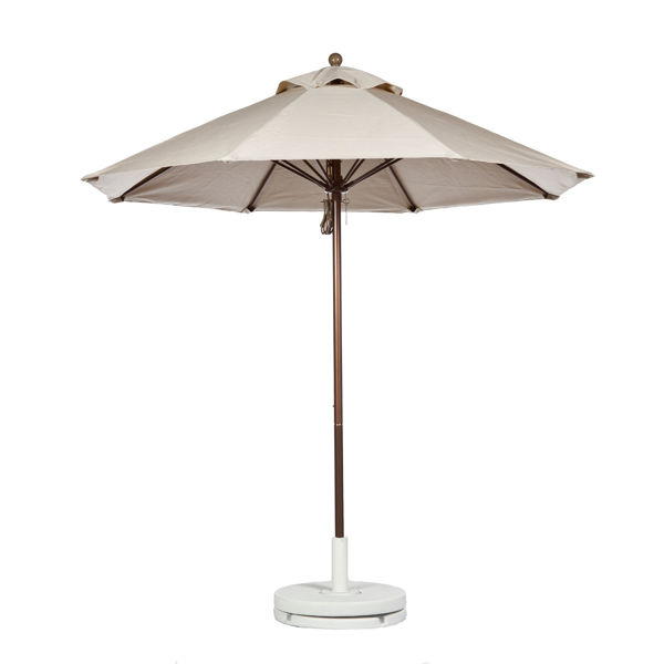 Picture of FiberBuilt 7.5 Ft Market Umbrellas Pulley and Pin Lift - Champagne Bronze Finish
