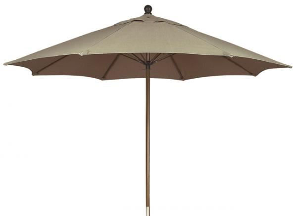 Picture of FiberBuilt 9 Ft Lucaya Umbrellas Push up  Lift - Terra Finish