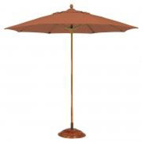 Picture of FiberBuilt 11 Ft Lucaya Umbrellas Pulley and Pin  Lift - Sahara Finish