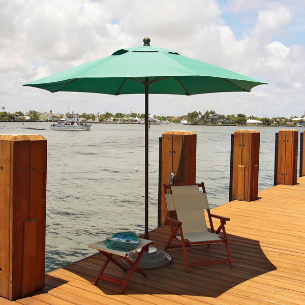 Picture of FiberBuilt 11 Ft Lucaya Umbrellas Pulley and Pin  Lift - Terra Finish