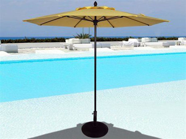 Picture of FiberBuilt 7 Ft Riva Umbrellas Pulley and Pin Lift - Champagne Bronze Finish