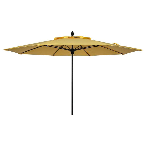 Picture of FiberBuilt 10 Ft Riva Umbrellas Pulley and Pin Lift - Black Finish
