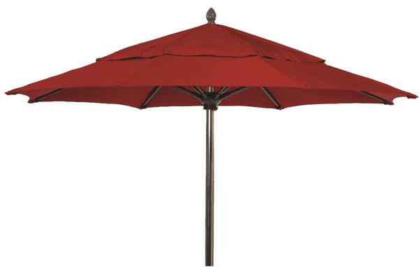 Picture of FiberBuilt 7.5 Ft Oceana Umbrellas Pulley and Pin Lift - Champagne Bronze Finish