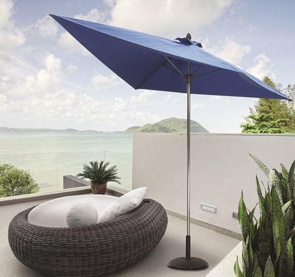 Picture of FiberBuilt 7 Ft Nitro Umbrella Push up Lift - Bright Aluminum Finish