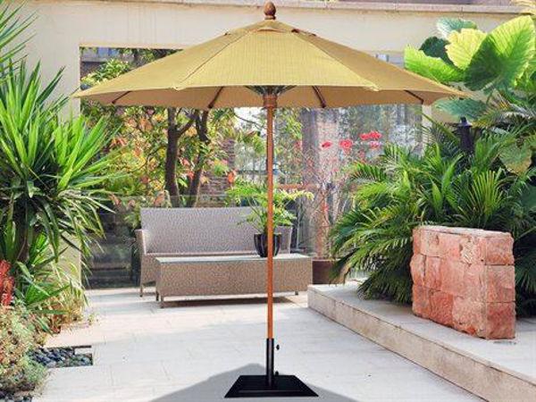 Picture of FiberBuilt 8 Ft Bridgewater Umbrella Push up Lift - Teak Finish