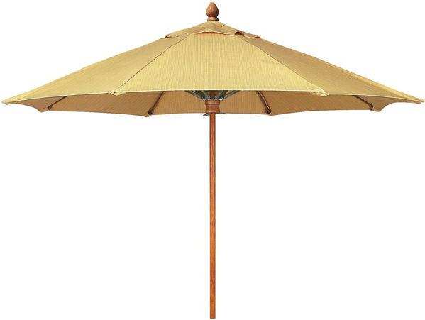 Picture of FiberBuilt 8 Ft Bridgewater Umbrella Push up Lift - Chestnut Finish