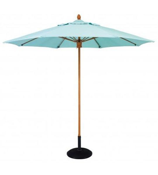 Picture of FiberBuilt 8 Ft Bridgewater Umbrella Push up Lift - Aged Teak Finish