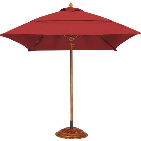 Picture of FiberBuilt 7 Ft Bridgewater Umbrella Push up Lift - Teak Finish