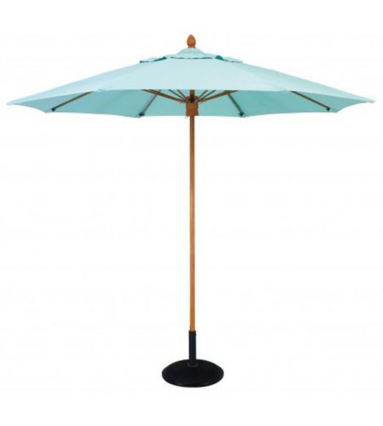 Picture of FiberBuilt 7 Ft Bridgewater Umbrella Push up Lift - Aged Teak Finish
