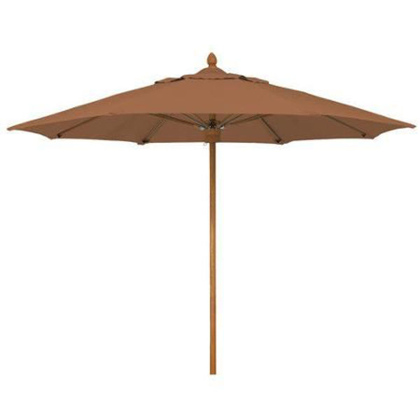 Picture of FiberBuilt 11 Ft Augusta Umbrella Pulley And Pin Lift - Aged Teak Finish