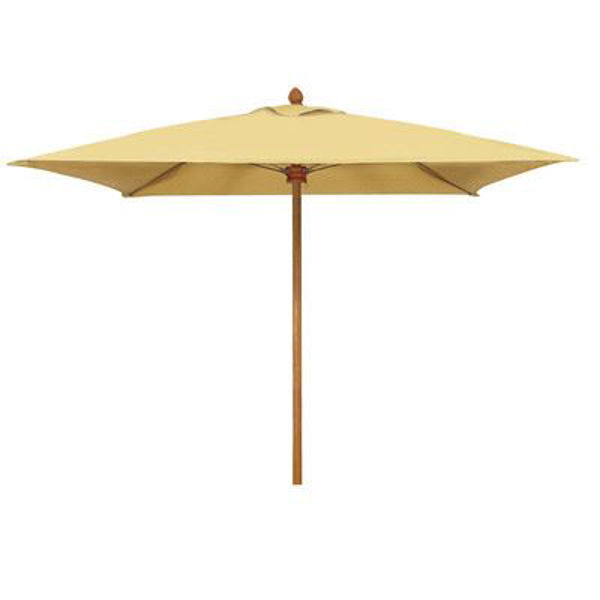 Picture of FiberBuilt 7 Ft Augusta Umbrella Push up Lift - Aged Teak Finish