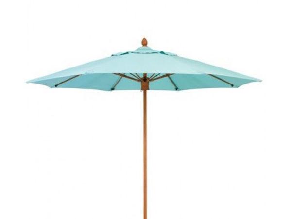 Picture of FiberBuilt 9 Ft Diamante Umbrella Push up Lift - Chestnut Finish