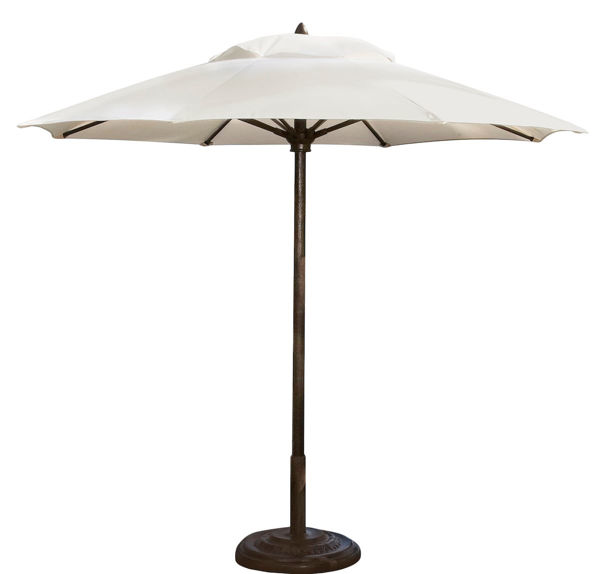 Picture of FiberBuilt 11 Ft Diamante Umbrella Pulley And Pin Lift - Chestnut Finish