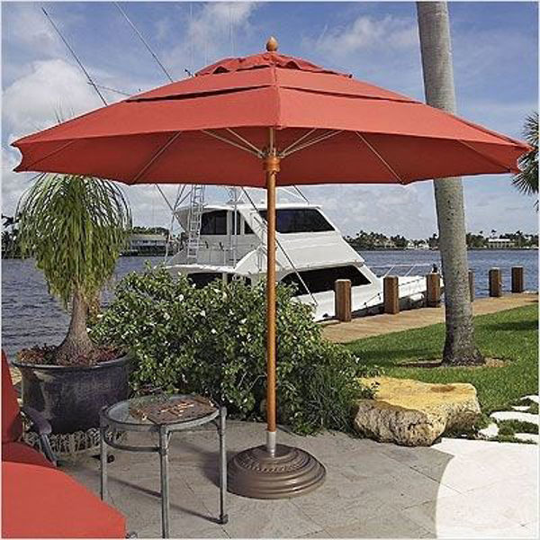 Picture of FiberBuilt 10 Ft Diamante Umbrella Pulley And Pin Lift - Teak Finish