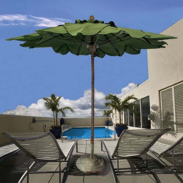 Picture of FiberBuilt 11 Ft Palm Umbrella Pulley And Pin Lift - Bark Finish