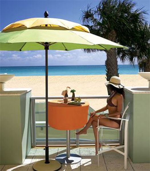 Picture of FiberBuilt 9 Ft South Beach Canopy Umbrella