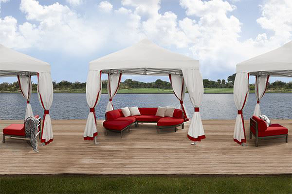 Picture of FiberBuilt 10 Ft Deluxe Tent with canopy