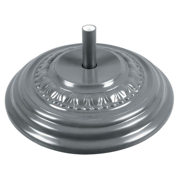 "Picture of FiberBuilt Fiberglass 22 "" Diameter Umbrella Base - Silver Finish"