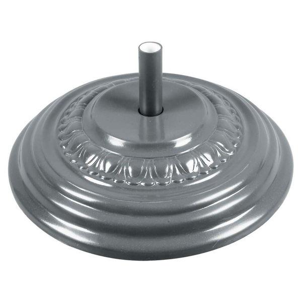 "Picture of FiberBuilt Fiberglass 27 "" Diameter Umbrella Base - Silver Finish"