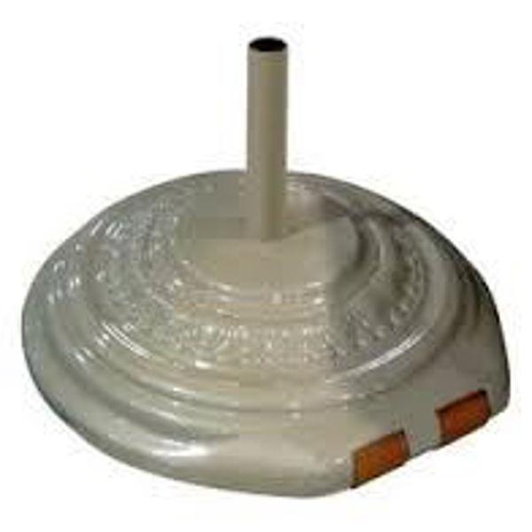 "Picture of FiberBuilt Fiberglass 22 "" Diameter Umbrella Base With Wheels - White Finish"