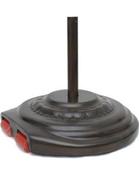 "Picture of FiberBuilt Fiberglass 27 "" Diameter Umbrella Base With Wheels - Chestnut Finish"