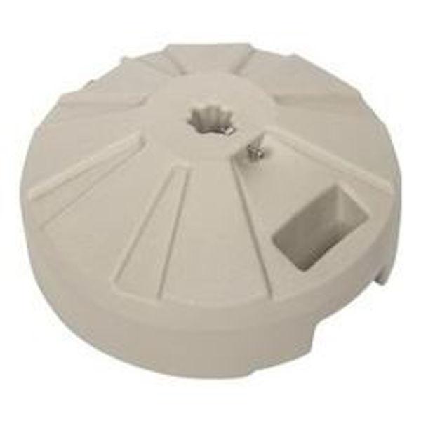 """Picture of FiberBuilt Plastic 16 """" Diameter Umbrella Base - Beige Finish"""