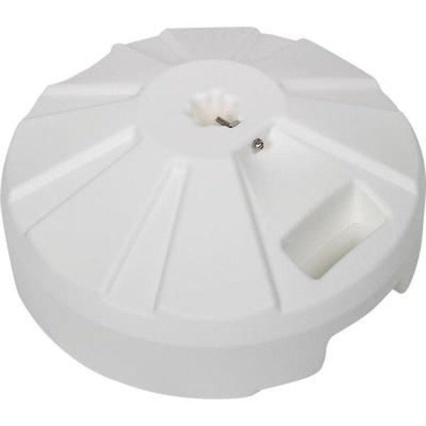 """Picture of FiberBuilt Plastic 16 """" Diameter Umbrella Base - White Finish"""