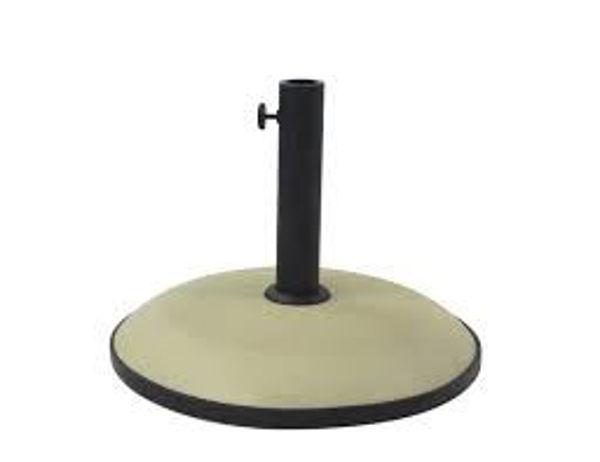 """Picture of FiberBuilt Concrete 19 """" Diameter Umbrella Base - Beige Finish"""
