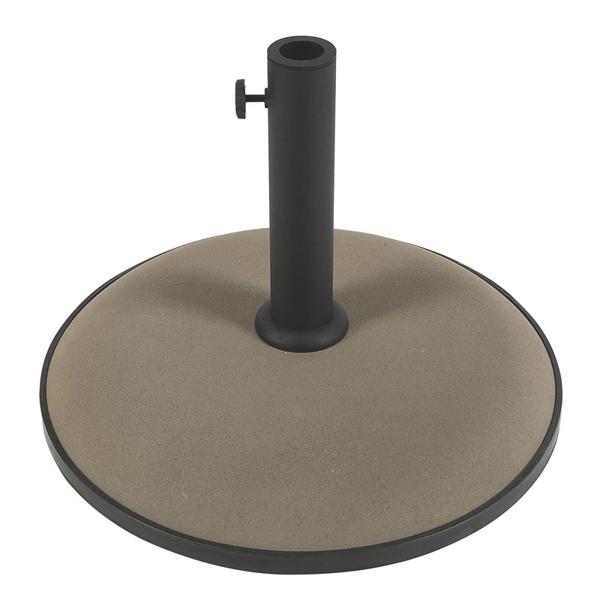 "Picture of FiberBuilt Concrete 19 "" Diameter Umbrella Base - Champagne Bronze Finish"