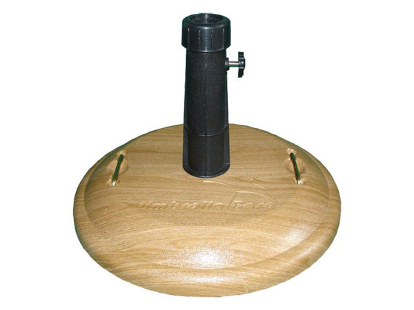 "Picture of FiberBuilt Concrete Basket Weave 19 "" Diameter Umbrella Base"