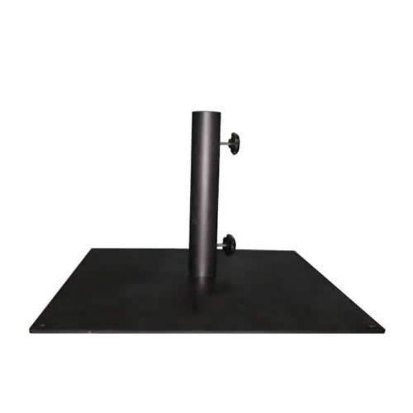 """Picture of FiberBuilt Square Steel 50 """" Diameter Umbrella Base - Black Finish"""