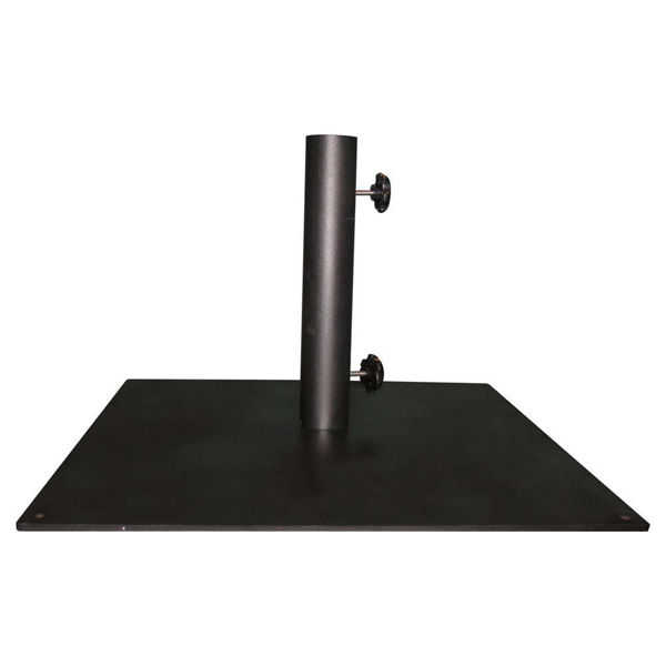 "Picture of FiberBuilt Square Steel 128 "" Diameter Umbrella Base - Black Finish"